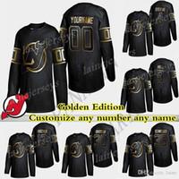 New Jersey Devils Golden Edition 86 Jack Hughes 76 PK Subban 9 Taylor Hall 13 Nico Hischier настроить любое число любое имя хоккей Джерси