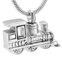 وصول LkJ10001 الجديد شخصية قطار البسيطة لحقوق رماد التذكار جرة قلادة الفولاذ المقاوم للصدأ التذكارية الحرق مجوهرات