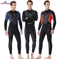 Fullbody Hommes néoprène Wetsuit Surf Natation Plongeon Voile Vêtements Plongée avec tuba Triathlon eau froide Suit humide