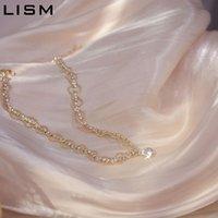 LISM prata esterlina 925 colar de cadeia curta para as Mulheres espumante Cubic Zirconia bonito colar de casamento Temperamento Jóias 2020