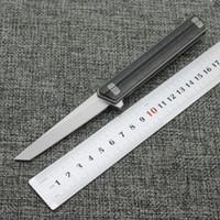 Высокий конец квартирмейстер официальный камень стиральная лезвие D2 лезвие углеродного волокна ручки складной нож кемпинг охоты на открытом воздухе рыбалки knif выживания
