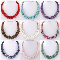 Best Selling amizade colar Europeu e retro-americano estilo étnico versão coreana Bohemia puro cascalho naturais cristal colar No21