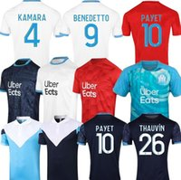 20 21 Marseille Football Maillots BENEDETTO PAYET 2020 2021 THAUVIN Olympique de Marseille GERMAIN LOPEZ Mens Jersey Enfants Kit
