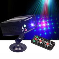 Nuovo Laser telecomando del proiettore rosso verde blu 3 di colore 48 foto luce laser 12V luce laser stroboscopica KTV discoteca del DJ luce della fase