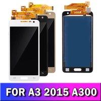 Wyświetlacz LCD dla Samsung Galaxy A3 2015 A300 A3000 A300F A300M Ekran Dotykowy Ekran Digitizer Montaż Wymiana TFT jasność