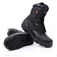 DELTA Outdoor Homens Caminhadas Sapatos Desert tático do Exército Bota sapatos respirável Camping Esporte caça sapatos de escalada de trabalho Tornozelo Botas