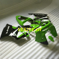 Motorcycle Fairing body kit for KAWASAKI Ninja ZX6R 636 98 99 ZX 6R 1998 1999 ABS Green black Fairings Bodywork+Gifts KP10
