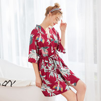V Neck Women Satin Nightgown Sexy Dresses Silk Nightwear Sle...