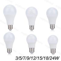 Ampoules LED 110V 220V 3W 5W 7W 9W en plastique en aluminium SMD2835 PC couverture Cool / Warm White pour lampes de table Pendentif lampes de sol EUB
