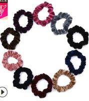 새로운 여성 벨벳 탄성 머리 Scrunchie Scrunchy Hairbands 머리 밴드 포니 테일 홀더 중간 크기 무료 배송