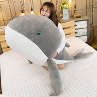 Big Animal Whale Plush Toy Cartoon Dolphin Doll Blue Whale Pillow para niños Chica Decoración de regalo 59 pulgadas 150 cm DY50717