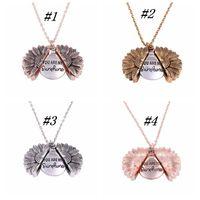 Уникальный дизайн Вы My Sunshine гравировка ожерелье подсолнечник Locket ожерелье можно открыть ожерелье подарки ZZA1318