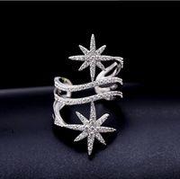 Compromiso LZX lujo Anillo Blanco / Negro Oro del brillo del color elegantes anillos de boda Cubic zirconia para la joyería de la manera del partido de las mujeres