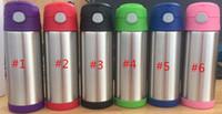 12oz Şişe sippy kupa Paslanmaz Çelik bardak Vakum İzoleli Tumbers Kupası Sızdırmazlık Seyahat Kupalar Bebek Çocuk watter şişe
