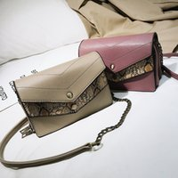 High Quality Snake Stitching Small Square Bag Female New Fas...
