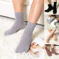 2019 Mens Thick Winter warm Coral Fleece Slipper Fußboden-Socken rutschfeste Socken Handtuch