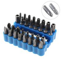 32 шт. / лот синий полый отвертка комплект с шестигранной и Torx специальная партия зарядки дрель формы отвертки инструмент для винта