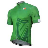 2020 Команда Ирландии Новый летний Велоспорт Джерси Customized задействуя износ велосипеда дорожного Mountain Race Tops Гонки одежды Green