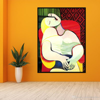 vA. Picasso Dreaming Woman Abstract Handpainted Pop Art Oil ...