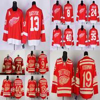 ديترويت الأجنحة الحمراء RBK Jerseys 8 Abdelkader 9 Howe 13 Datsyuk 19 Steve Yzerman 24 Bob Probert 71 Dylan Larkin Hockey Jersey