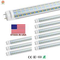 US-Aktien 4ft 1.2m 1200mm T8 T10 T12 D-geformte LED-Schlauch-Lichter Hoch super hell 60W LED-Leuchtstoffröhre Birnen Lampe AC85-277V