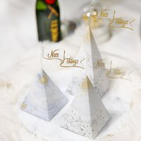 50pcs lot Triangle Paper Candy Box Gift box Wedding Party Su...