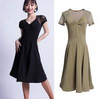 c0ddb95a84 2019 nova dama vestidos de dança latina moda malha de costura roupas de  dança para mulheres