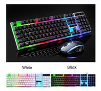 G21 Keyboard Mouse Set colorato tastiera retroilluminata standard 104 tasti USB Wired ergonomici Gaming Tastiere e mouse D29