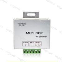 Amplifikatör Dimmerler Tek Renk DC12V Giriş 24A Bir Kanal Çıkışı Aydınlatma Aksesuarları LED Şerit Güç Tekrarlayıcı Konsolu Kontrol Cihazı DHL