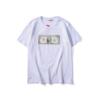 8ef1ae073fc2 19ss Summer Designer Mens Tshirt Suprême Tide Brand Dollar Print Tshirts  Cotton Fashion Casual Tshirts Street Hip Hop High Quality T-shirts. US ...