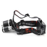 BORUIT 3T6 светодиодные фары CREE T6 3 Led 5000lm аккумуляторная 18650 высокой мощности головного света лампы RHL001