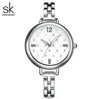 Shengke Brand Женщины Часы женские кварцевые часы Lady Наручные часы Relogio Feminino Montre Relogio feminino Mujer Кристалл часы