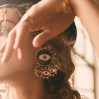 Orecchini azzurro del malvagio del malvagio della Turchia di Turchia degli Orecchini del fascino degli orecchini del fascino per le donne orecchini nappa all'ingrosso