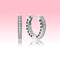 Earrecchino del cerchio del diamante dell'argento sterlina reale dell'argento sterling con scatola originale per le donne di Pandora Set di orecchini di gioielli di alta qualità