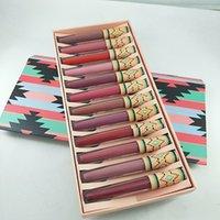 en stock! maquillage de la marque lipgloss 12pcs maquillage / set mat brillant à lèvres waterproof Livraison gratuite rouge à lèvres liquide longue durée.