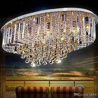 Современные K9 Кристалл LED E14 Люстра хрустальная Подвеска Потолочный светильник Главная Крепеж освещение для гостиной ресторана спальня лампы