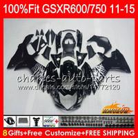 Инъекция для Suzuki GSXR 600 750 Black Silvery GSXR750 11 12 13 14 15 16 10HC.1 GSXR-600 K11 GSXR600 2011 2011 201 201 201 201 2013 2014 2015 2011 2011
