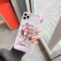 Cas de DIY CAS TPU SOFT TPU Cas de téléphone pour iPhone 11 Custom Custom Flamingo Design Couverture arrière