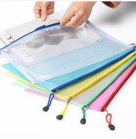 2018 nuovi 5 colori A4 / A5 del PVC bagagli sacchetto di scuola di forniture per ufficio foglio trasparente Notebook allentato cerniera autosigillante titolare di file Regali creativi