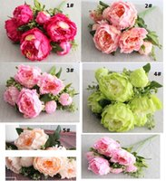 New. Silk Simulation Artificial flower Peony flower bouquet 7...