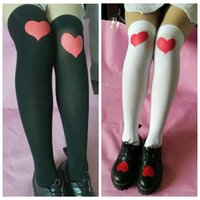 68e77fb0f28 Wholesale stockings for sale - Heart Over Knee High Socks Colors Valentine  s Day Lover Printed