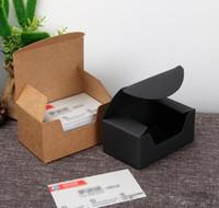 93 * 57 * 44mm de haute qualité noire en carton papier kraft boîte-cadeau carte de visite d'emballage Boîte Livraison gratuite XD22666