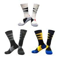 Chaussettes de basket-ball d'élite professionnelle Long genou sport sportif chaussettes hommes Mode compression thermique chaussettes en gros 2021