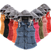 Winter Children Waistcoats Girls Boys Vest Warm Hooded Coat ...