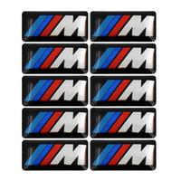 100pcs Tec Wheel Sport distintivo 3D emblema decalcomanie Logo per BMW Serie M M1 M3 M5 M6 X1 X3 X5 X6 E34 E36 E6 adesivi auto styling