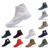 2019 PALLADIUM New chegou Ankle Boots shoes para homens mulheres Triplo preto branco Cinza vermelho Denim sneakers moda lona casual sapato tamanho 35-45