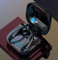 مصمم الكمية بلوتوث اللاسلكية سماعات التحكم باللمس V5.0 سماعات الأذن الكهربائية مع العرض الرقمية الرياضة سماعة مقاوم للماء