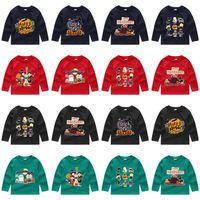 Détail 24 styles Costumes Halloween Costumes Pour Enfants T-shirts à manches longues Casual bande dessinée imprimé pull garçons filles maillots de football enfants