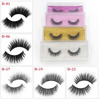 500pairs all'ingrosso sintetico Mink Lashes Glitter Box 3D artificiale Ciglia finte Long Lasting Distributore Lashes Ciglia a mano