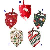 5 Stile Dog Pet Natale Bandana cotone del cane sciarpa bavaglini collare governare Accessori Natale animali triangolare Sciarpa Unisex B1